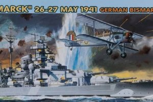 "7125 1/700 ""Sink the Bismarck"" May 26-27, 1941 - German Bismarck + RN Swordfish"