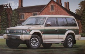01383 Mitsubishi Pajero 4WD Midproof Wide Super Exceed