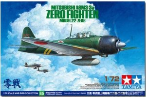 60785 1/72 Mitsubishi A6M3/3a Zero Fighter Model 22 (Zeke)