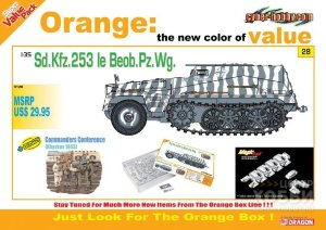 9128 1/35 Sd.Kfz.253 le Beob. Pz.Wg. + Commander Conference Figure Set (Orange) 1/35 Sd.Kfz.253 le Beob. Pz.Wg. + Commander Conference Figure Set (Orange)