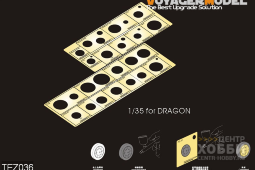 TEZ036 1/35 WWII AFV Road Wheels Stenciling templates(for DRAGON)(GP)