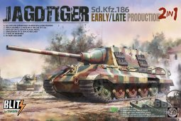 8001 1/35 Jagdtiger Sd.Kfz.186 Early/Late Production 2 in 1