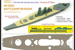 IW-70002 - Infini Model 1/700 Musashi Ultra Slim Wooden Deck