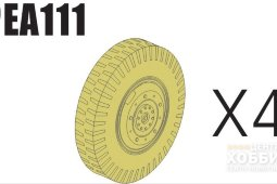 PEA111 1/35 Road Wheels for Sd.Kfz.234 Pattern 2 (For DRAGON)