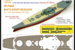 IW-70005 - Infini Model 1/700 Musashi Ultra Slim Wooden Deck