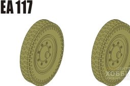 PEA117 1/35 WWII German Sd.Kfz.251/Sd.Kfz.11 Road Wheels Pattern 1