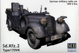 MB3531 Автомобиль Sd.Kfz. 2, Type 170VK German Military Radio Car Mercedes-Benz 170VK