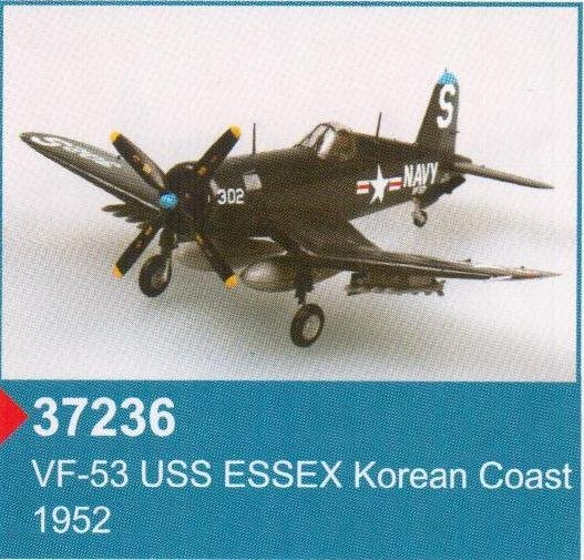 37236 Самолет F4U-4 VF-53 USS ESSEX Korean Coast 1