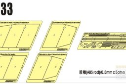 PEA133 1/35 WWII German Sturmpanzer IV Brummbar Early Version Side Skirts (For Tristar 35038)