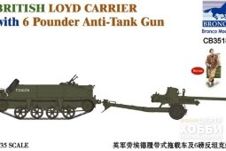 CB35189 1/35 BRITISH LOYD CARRIER WITH 6 POUNDER ANTI-TANK GUN
