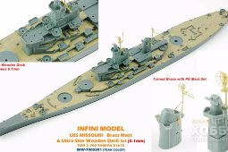 IMW-70003R1 1/350 Missouri For T31613 Teak color