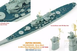 IMW-70003R2 1/350 Missouri For T31613 Deck Blue