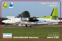 ЕЕ144126_3 1/144 Пассажирский авиалайнер Fokker F-50  Air Baltic ( Limited Edition )