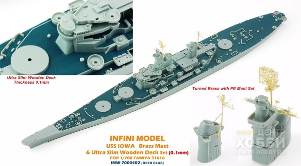 IMW-70004R2 1/350 Iowa For T31616 Deck Blue