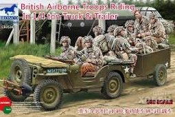 CB35169	1/35	British Airborne Troops Riding In 1/4 ton Truck & Trailer