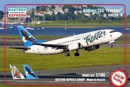 ЕЕ144129_4 1/144 Авиалайнер Б-737-300 Frontier Лиса ( Limited Edition )