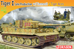7440 1/72 Pz.Kpfw.VI Ausf.E Tiger I Late Production w/Zimmerit + Tiger Aces