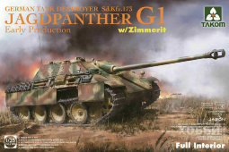 2125 1/35 Jagdpanther G1 Early Production w/zimmerit & full interior