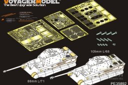 PE35892 WWII German King Tiger Final version(For MENG TS-031)